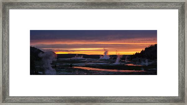 Yellowstone Framed Print by Darryl Wilkinson