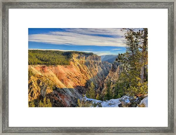 Yellowstone Grand Canyon East View Framed Print