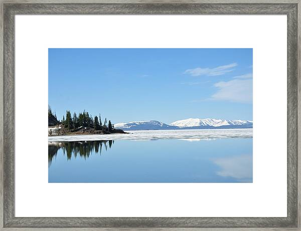 Yellowstone Lake In The Spring Framed Print