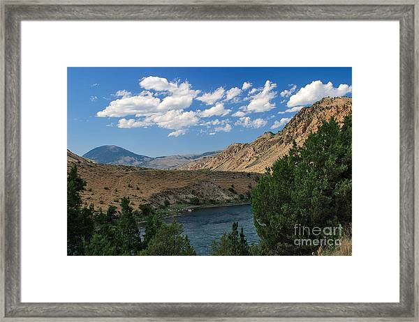 Yellowstone River Overlook Framed Print