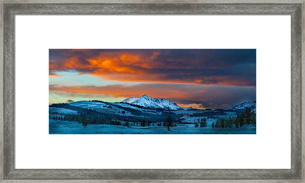 Yellowstone Sunset Framed Print