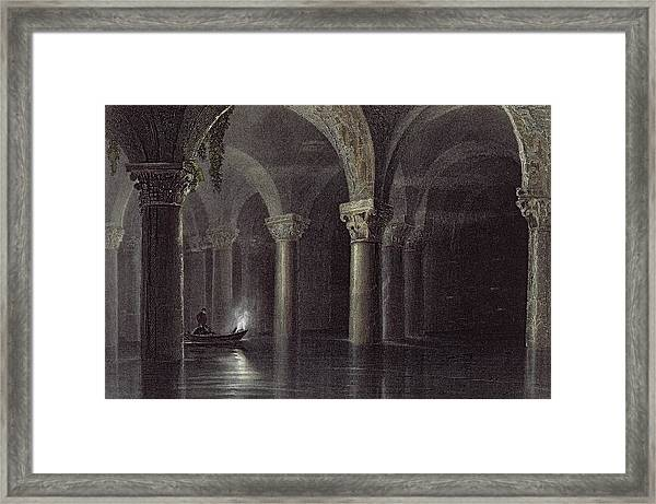 Yere Batan Serai Istanbul, Engraved Framed Print