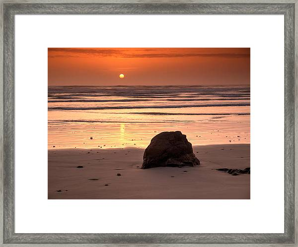 Yet Another Oregon Sunset.  Framed Print