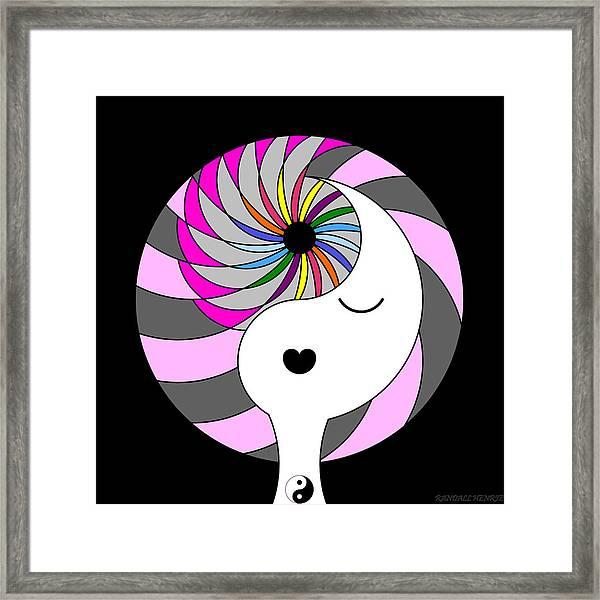 Yin Yang Crown 5 Framed Print