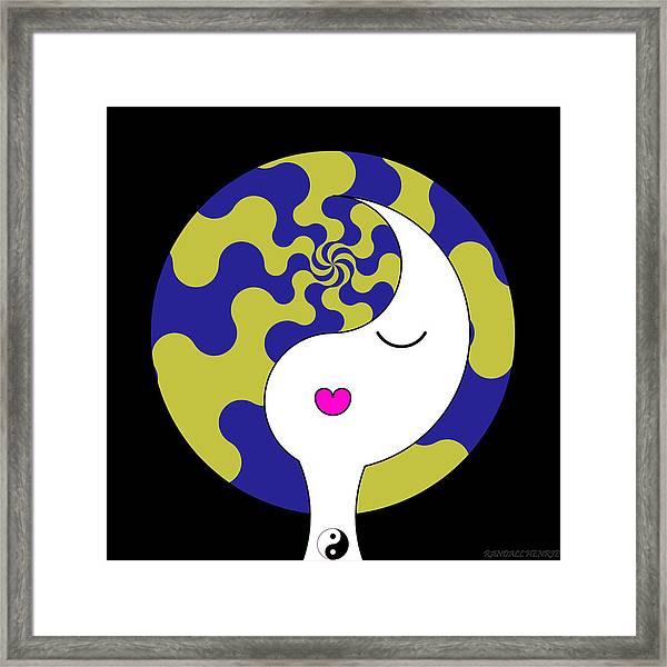 Yin Yang Crown 7 Framed Print
