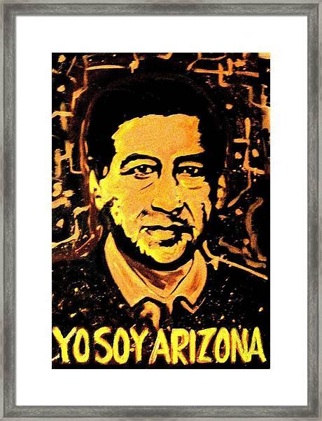 Yo Soy Arizona Framed Print
