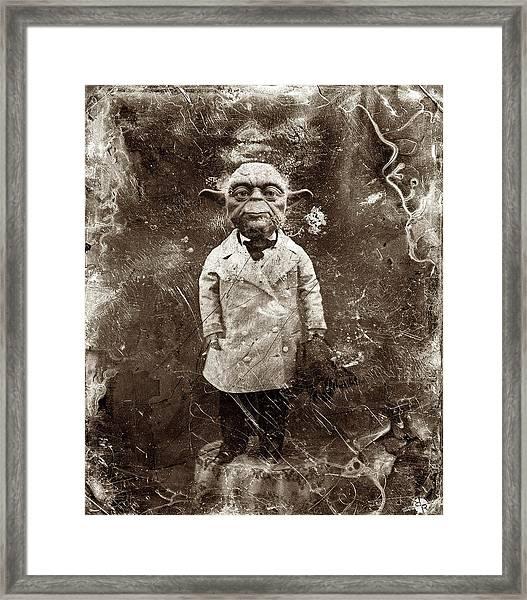 Yoda Star Wars Antique Photo Framed Print