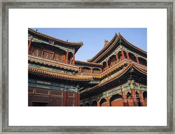 Yonghe Temple Aka Lama Temple In China Framed Print