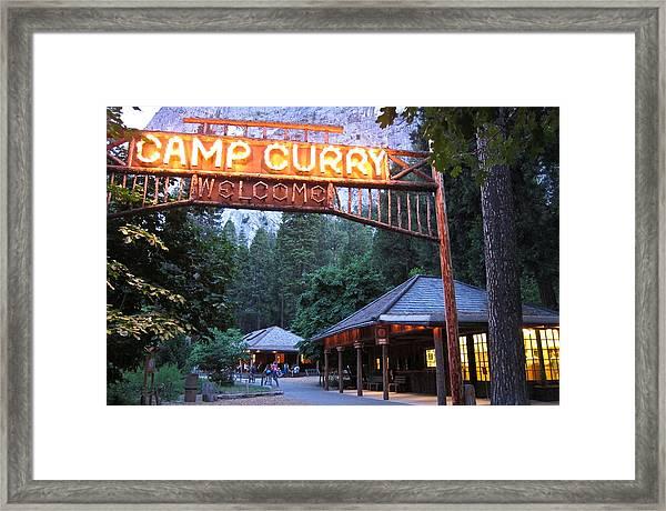 Yosemite Curry Village Framed Print