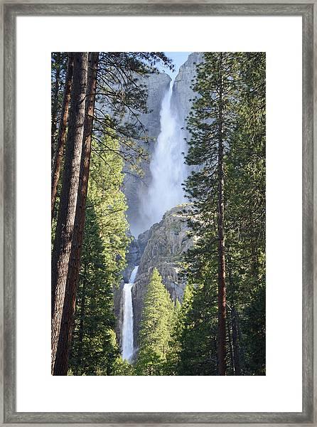 Yosemite Falls In Morning Splendor Framed Print
