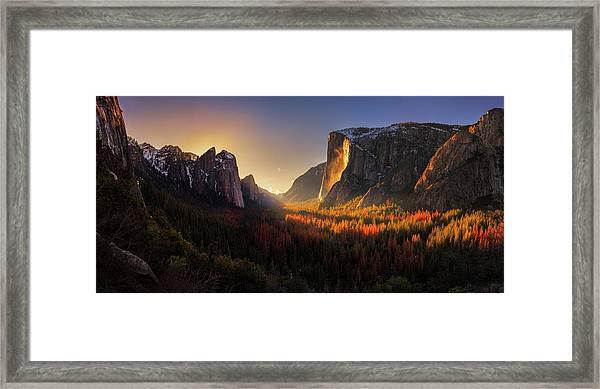 Yosemite Firefall Framed Print