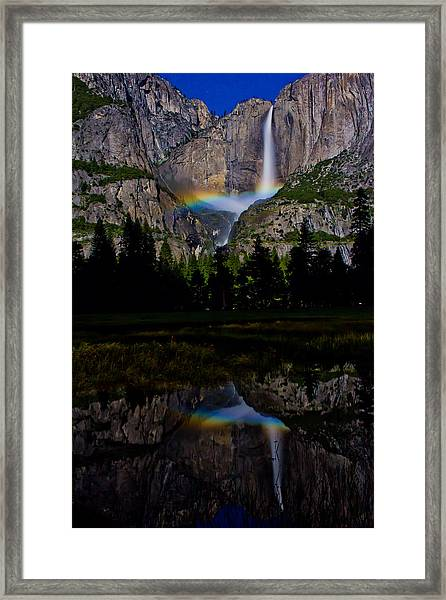 Yosemite Moonbow Framed Print