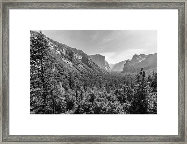 Yosemite Tunnel View Framed Print