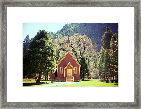 Yosemite Valley Chapel Lomo Framed Print