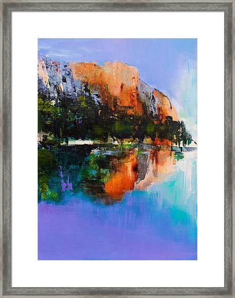 Framed Print featuring the painting Yosemite Valley by Elise Palmigiani