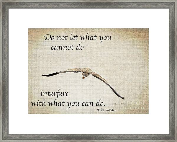 You Can Do It  Framed Print