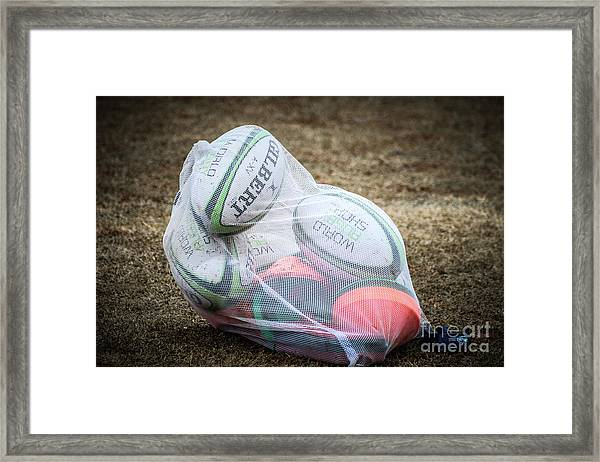You Gotta Have Balls To Play Rugby Framed Print