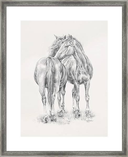 You Scratch My Back I'll Scratch Yours Framed Print