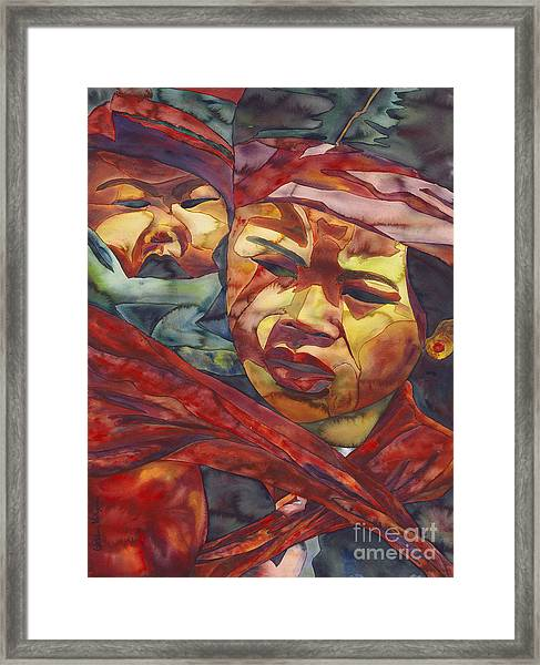 Young Asian Children Framed Print