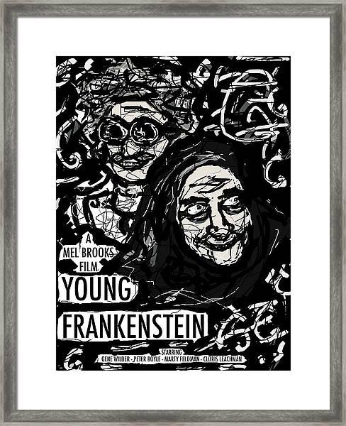Young Frankenstein Poster Design Framed Print
