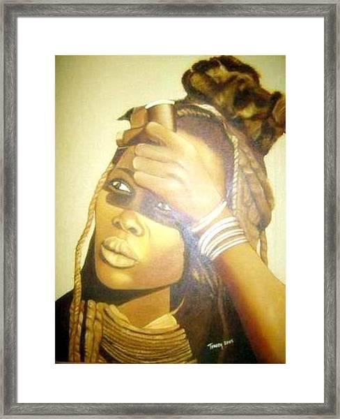 Young Himba Girl - Original Artwork Framed Print