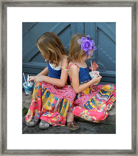 Taking A Break At Mardi Gras Framed Print