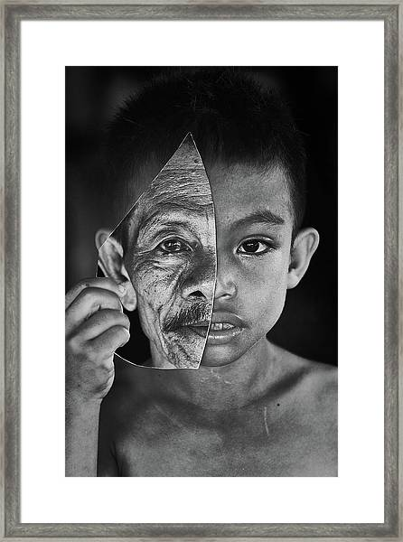 Young Or Old Framed Print by Amaluddin