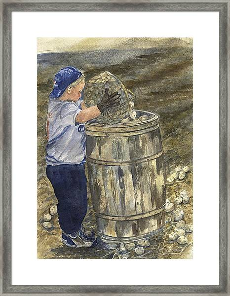 Young Picker 2 Framed Print