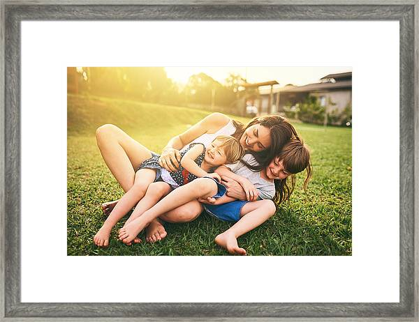 Your Affection Shapes Their Happiness For Life Framed Print by PeopleImages