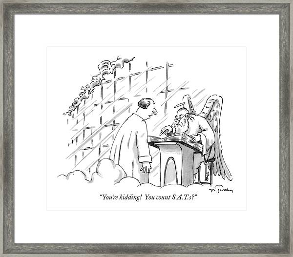 You're Kidding!  You Count S.a.t.s? Framed Print
