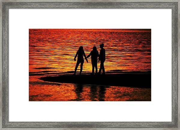 Youthful Friendships Framed Print