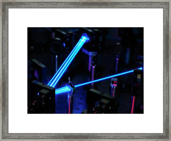 Ytterbium Optical Clock Laser Framed Print by Andrew Brookes, National Physical Laboratory