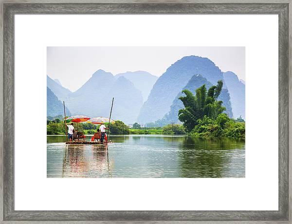 Yulong River Cruise Framed Print
