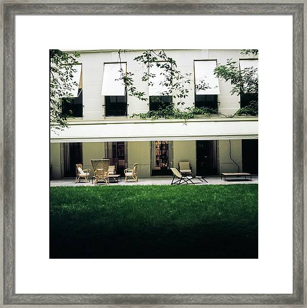 Yves Saint Laurent's Patio Framed Print