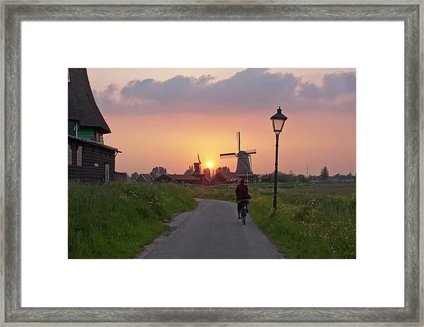 Zaanse Schans Windmills Framed Print