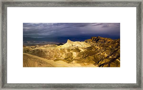 Zabriske Point Panorama 03 Framed Print