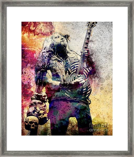 Zakk Wylde - Ozzy Osbourne  Framed Print