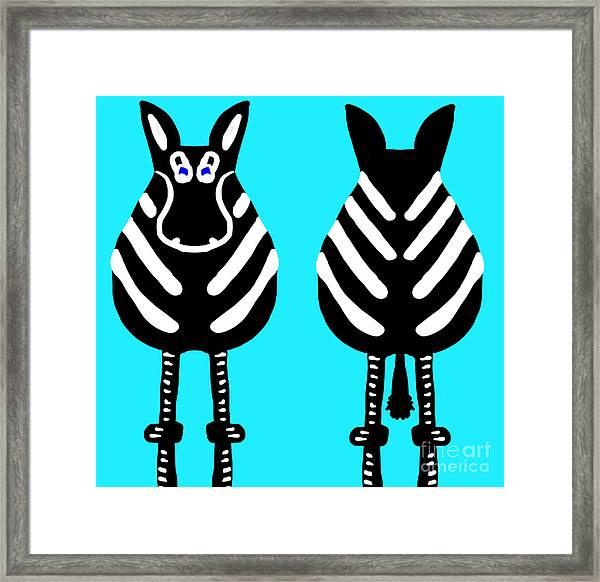 Zebra - Both Ends Framed Print
