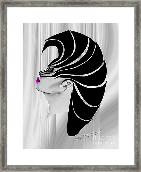 Zebra Punk Framed Print