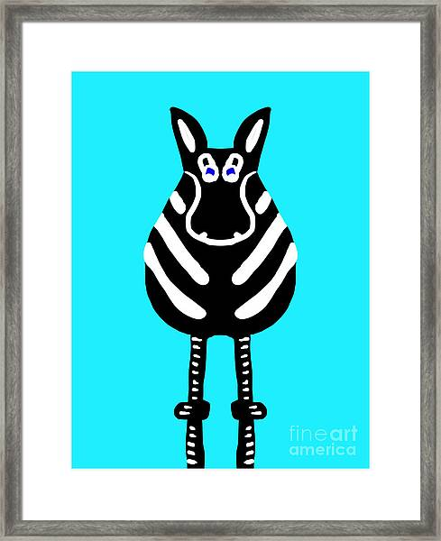 Zebra - The Front View Framed Print