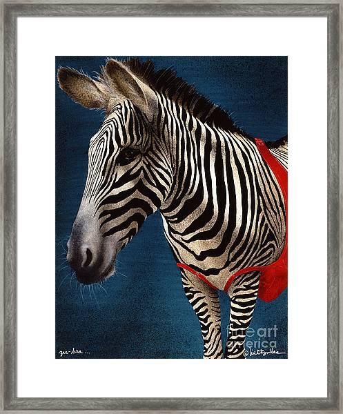 Zeebra Framed Print by Will Bullas