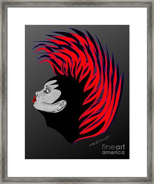 Zee Fire Framed Print