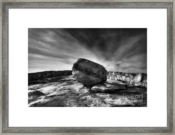 Zen Black White Framed Print
