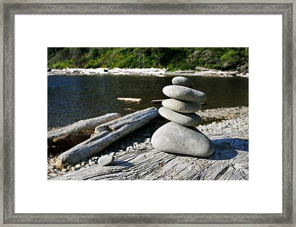 Zen Rocks Framed Print