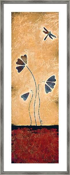 Zen Splendor - Dragonfly Art By Sharon Cummings. Framed Print