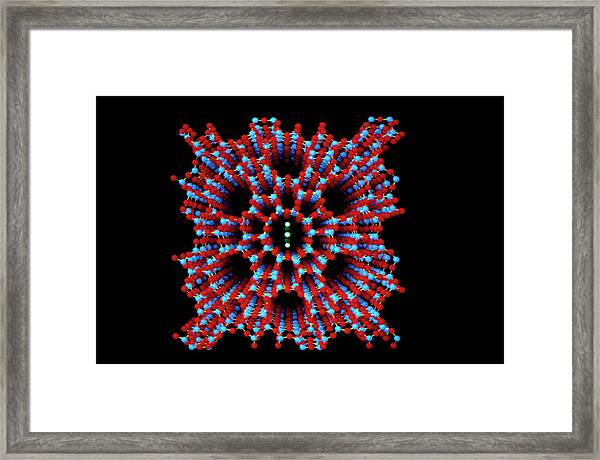 Zeolite Group Of Minerals Framed Print