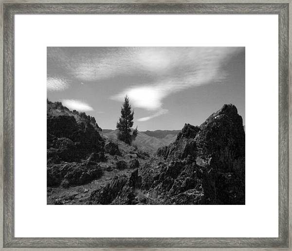 Zig Zag Sky Framed Print