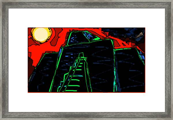 Ziggurat Nites Framed Print