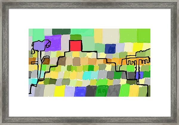 Ziggurat Framed Print