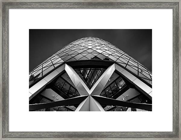 Zigzag (the  Gherkin) Framed Print